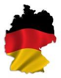 σκιαγραφία της Γερμανία&sigmaf Στοκ φωτογραφία με δικαίωμα ελεύθερης χρήσης