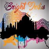 σκιαγραφία της Ινδίας με τον παφλασμό watercolor Στοκ φωτογραφίες με δικαίωμα ελεύθερης χρήσης