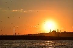 Σκιαγραφία της Ιστανμπούλ Στοκ φωτογραφίες με δικαίωμα ελεύθερης χρήσης