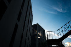 Σκιαγραφία της οικοδόμησης Στοκ Φωτογραφία