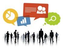 Σκιαγραφία της ομαδικής εργασίας Infographic επιχειρηματιών Στοκ Φωτογραφίες