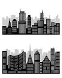 Σκιαγραφία της πόλης Απεικόνιση αποθεμάτων