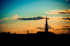 Σκιαγραφία της Ρήγας Στοκ εικόνα με δικαίωμα ελεύθερης χρήσης