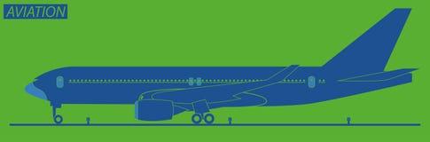 Σκιαγραφία του αεροπλάνου Στοκ Εικόνα
