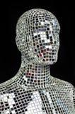 Σκιαγραφία του ανθρώπινου σώματος από τα κομμάτια καθρεφτών σπινθηρίσματος Στοκ εικόνα με δικαίωμα ελεύθερης χρήσης