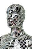 Σκιαγραφία του ανθρώπινου σώματος από τα κομμάτια καθρεφτών σπινθηρίσματος Στοκ Εικόνες