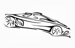 Σκιαγραφία του αυτοκινήτου. Στοκ Εικόνα