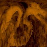 Σκιαγραφία του δράκου στην καπνώή σπηλιά διανυσματική απεικόνιση