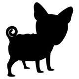 Σκιαγραφία του εικονιδίου σκυλιών Στοκ εικόνες με δικαίωμα ελεύθερης χρήσης