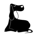 Σκιαγραφία του εικονιδίου σκυλιών Στοκ φωτογραφία με δικαίωμα ελεύθερης χρήσης