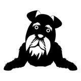 Σκιαγραφία του εικονιδίου σκυλιών Στοκ Εικόνα