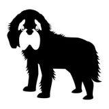 Σκιαγραφία του εικονιδίου σκυλιών Στοκ Εικόνες