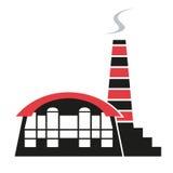 Σκιαγραφία του εργοστασίου Στοκ εικόνα με δικαίωμα ελεύθερης χρήσης