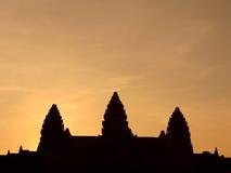 Σκιαγραφία του ναού Angkor Wat Στοκ φωτογραφίες με δικαίωμα ελεύθερης χρήσης