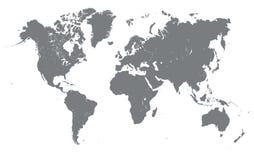 Σκιαγραφία του παγκόσμιου χάρτη Στοκ Φωτογραφία