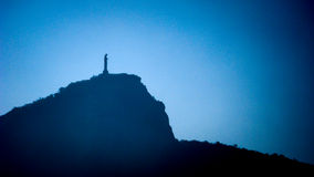 Σκιαγραφία του παρατηρητή Στοκ Εικόνα