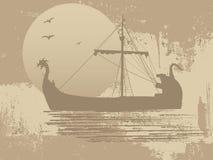 Σκιαγραφία του σκάφους δράκων Στοκ εικόνα με δικαίωμα ελεύθερης χρήσης