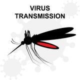 Σκιαγραφία του συνόλου κουνουπιών του αίματος Στοκ φωτογραφίες με δικαίωμα ελεύθερης χρήσης