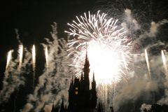 Σκιαγραφία του Castle σε Disneyworld Στοκ φωτογραφία με δικαίωμα ελεύθερης χρήσης