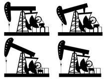 Σκιαγραφία του Derrick πετρελαίου Στοκ φωτογραφία με δικαίωμα ελεύθερης χρήσης