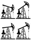 Σκιαγραφία του Derrick πετρελαίου Στοκ Φωτογραφίες