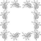 Σκιαγραφία του floral πλαισίου Στοκ Εικόνες