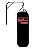 Σκιαγραφία τσαντών διατρήσεων Στοκ φωτογραφία με δικαίωμα ελεύθερης χρήσης