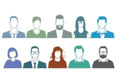 Σκιαγραφία των απρόσωπων ανθρώπων Στοκ Φωτογραφίες