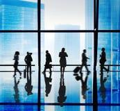 Σκιαγραφία των αστικών εννοιών σκηνής επιχειρηματιών Στοκ Φωτογραφία