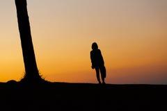 Σκιαγραφία των γυναικών στοκ φωτογραφία με δικαίωμα ελεύθερης χρήσης