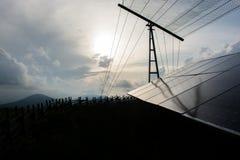 Σκιαγραφία των ηλιακών πλαισίων Στοκ φωτογραφία με δικαίωμα ελεύθερης χρήσης