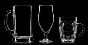 Σκιαγραφία των διαφορετικών γυαλιών στο Μαύρο Στοκ εικόνα με δικαίωμα ελεύθερης χρήσης
