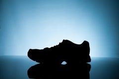 Σκιαγραφία των πάνινων παπουτσιών Στοκ εικόνες με δικαίωμα ελεύθερης χρήσης