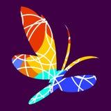 Σκιαγραφία των πεταλούδων, εικονίδιο Στοκ εικόνες με δικαίωμα ελεύθερης χρήσης