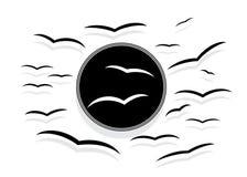 Σκιαγραφία των πουλιών Στοκ Φωτογραφίες