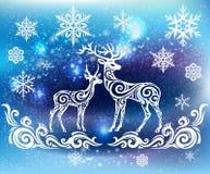 Σκιαγραφία των τυποποιημένων deers Στοκ Εικόνα