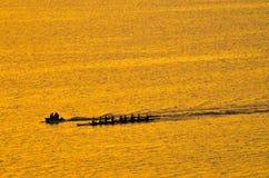 Σκιαγραφία των rowes Στοκ Εικόνες