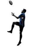 Σκιαγραφία φορέων ατόμων ράγκμπι Στοκ Φωτογραφία
