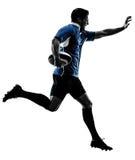 Σκιαγραφία φορέων ατόμων ράγκμπι Στοκ Εικόνες