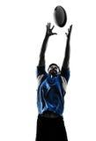 Σκιαγραφία φορέων ατόμων ράγκμπι Στοκ Φωτογραφίες