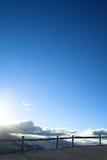 σκιαγραφία φραγών Στοκ εικόνα με δικαίωμα ελεύθερης χρήσης