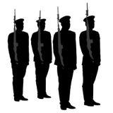 Σκιαγραφία φρουράς τιμής Στοκ εικόνες με δικαίωμα ελεύθερης χρήσης