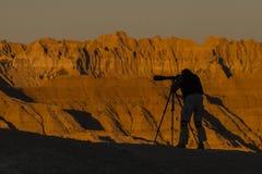 Σκιαγραφία φωτογράφων Στοκ φωτογραφία με δικαίωμα ελεύθερης χρήσης