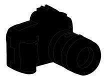 σκιαγραφία φωτογραφιών περιγραμμάτων φωτογραφικών μηχανών Ελεύθερη απεικόνιση δικαιώματος