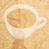 Σκιαγραφία φλυτζανιών από τον καφέ στοκ φωτογραφία με δικαίωμα ελεύθερης χρήσης