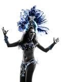 Σκιαγραφία χορευτών samba γυναικών Στοκ φωτογραφία με δικαίωμα ελεύθερης χρήσης
