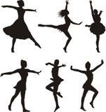 Σκιαγραφία χορού - γυναίκα Στοκ Εικόνα