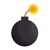 Σκιαγραφία χρώματος με το εικονίδιο βομβών ελεύθερη απεικόνιση δικαιώματος