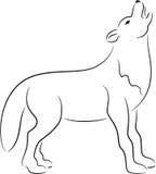 Σκιαγραφία λύκων Στοκ φωτογραφία με δικαίωμα ελεύθερης χρήσης
