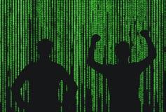Σκιαγραφία δύο επιχειρηματίας Στοκ εικόνες με δικαίωμα ελεύθερης χρήσης